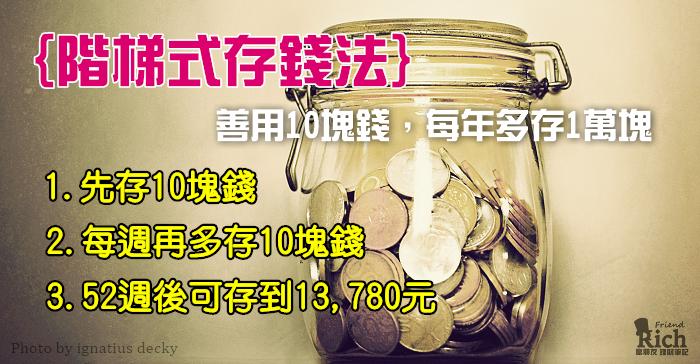 2015年你想多存多少錢?來挑戰52週的存錢能力