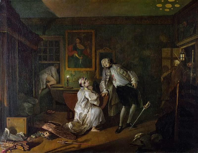 William Hogarth - Marriage A-la-Mode 5 The Bagnio