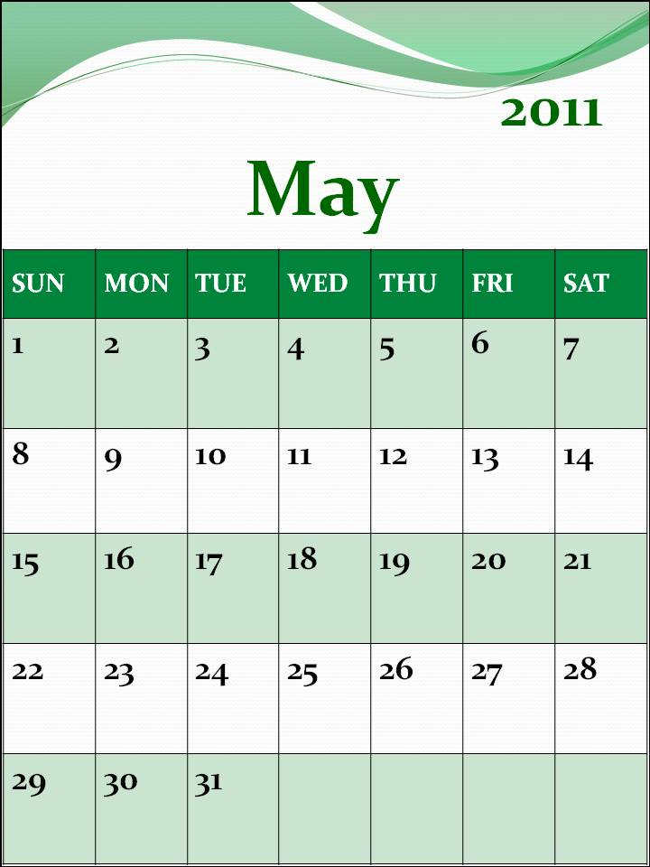 june 2011 calendar blank. Blank Calendar 2011 June