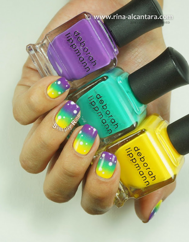 Gradient Nail Art using Deborah Lippmann 80s Rewind Collection