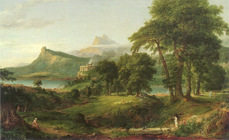 Thomas Cole - The Course of Empire, The Pastoral or Arcadian State, 1834
