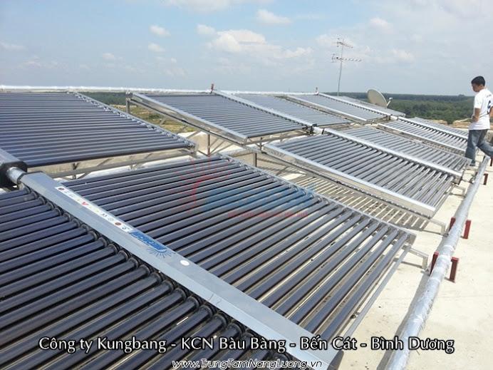 hệ thống máy nước nóng năng lượng mặt trời công nghiệp MEGASUN 4000 lít