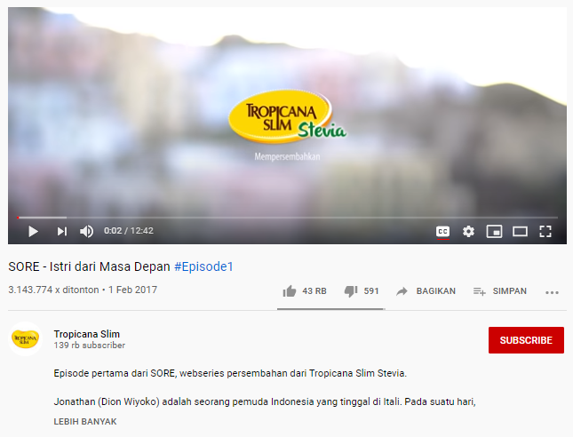 Tropicana Slim YouTube