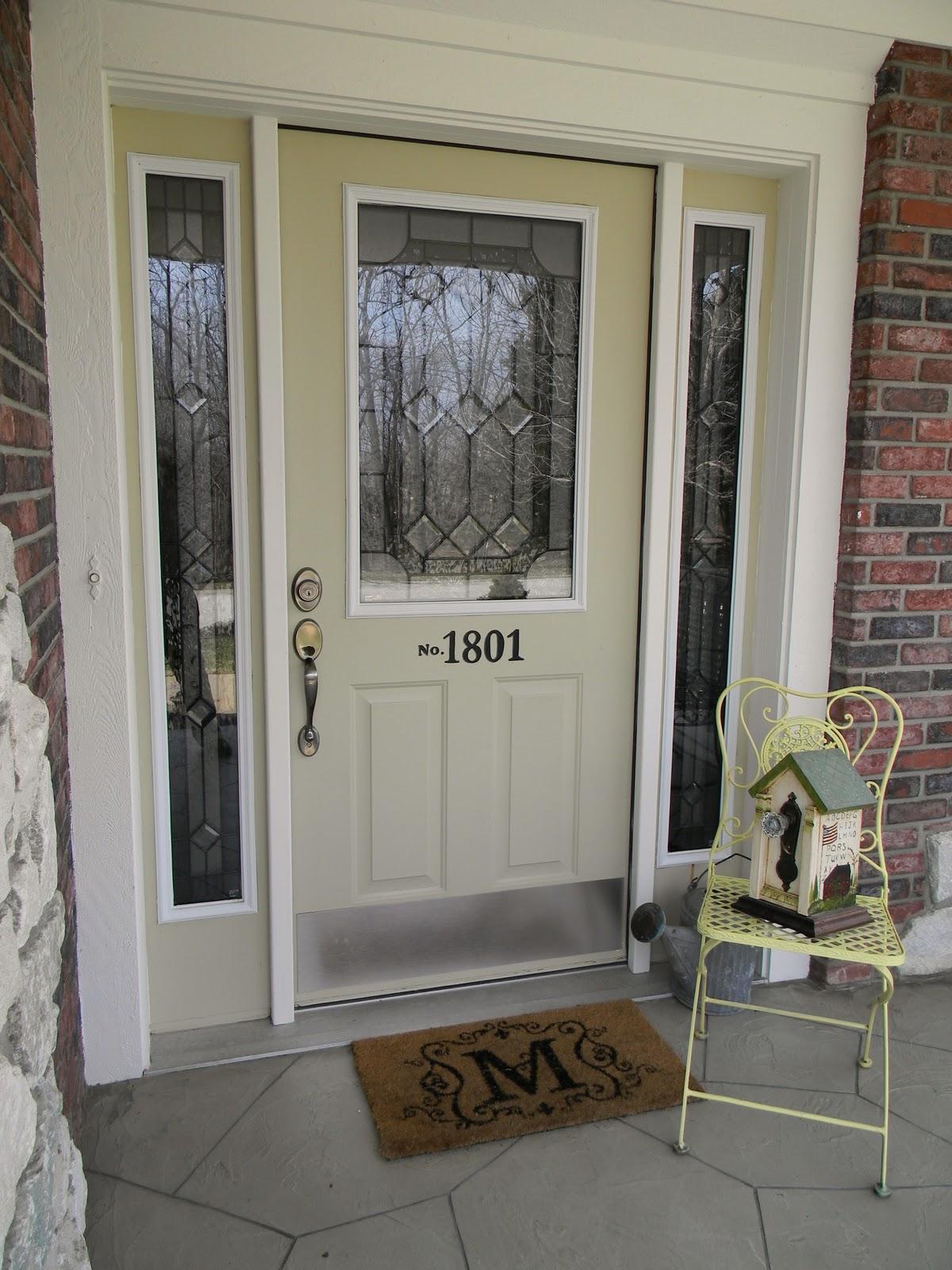 Forever Decorating Front Door Make OverSame Door New Glass