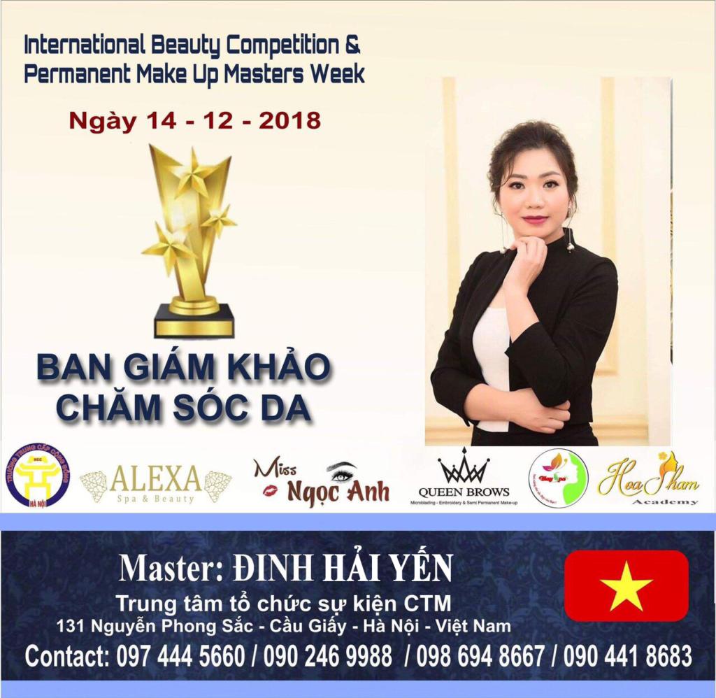 CEO Đinh Hải Yến làm giám khảo chuyên ngành chăm sóc da.