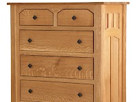 Oak Vertical Dressers