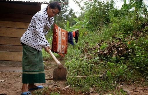 Sau hơn 4 tháng được đưa về làng, sống trong tình yêu thương của bà con bản Ka Tăng.