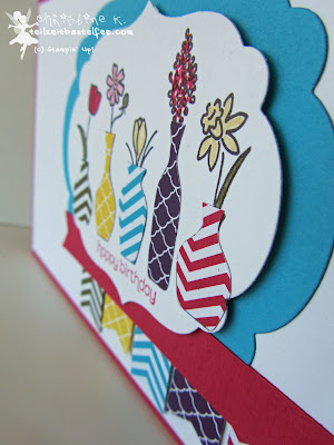 stampin up, vivid vases, wishes your way, fähnchen, banner, labels collection