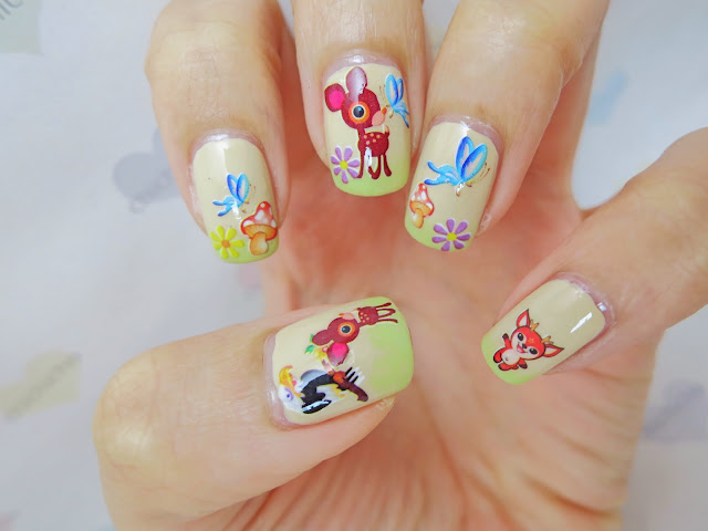 Bambi Water Decal Nail Art BOP127