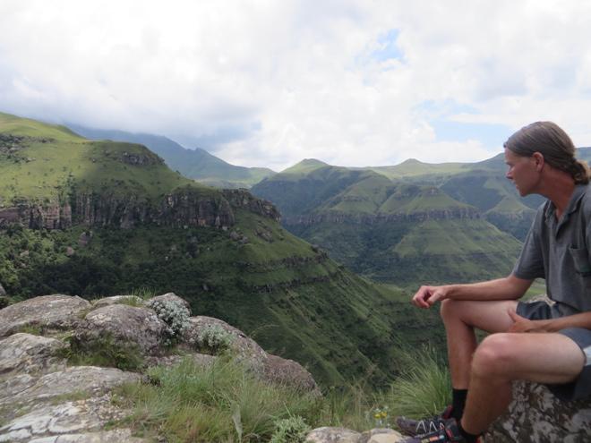 Uitzicht vanaf de Sphinx, Champagne Valley, Drakensberg - Zuid Afrika