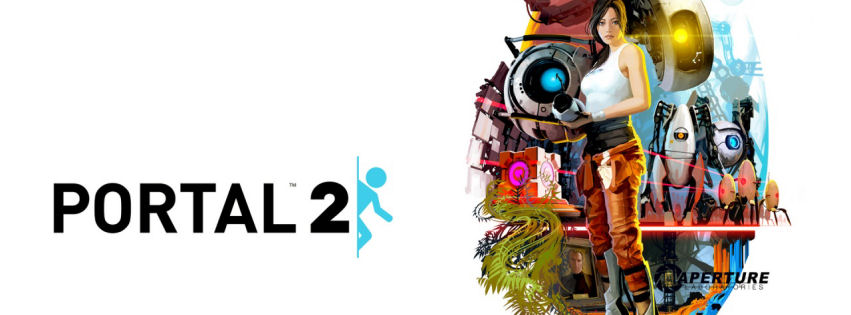 Portal 2 characters facebook cover