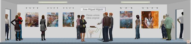 Sala de exposición virtual de pinturas de Jose Miguel Alguer Romero