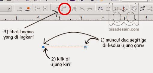 Kursus desain grafis - klik pada garis yang anda buat