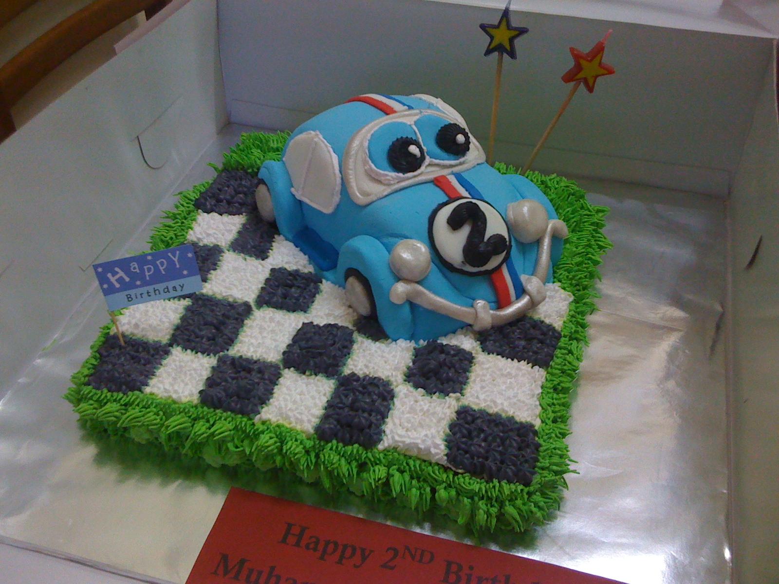 Myprincesscupcake Herbie Fondant Car Birthday Cake For Muhammad