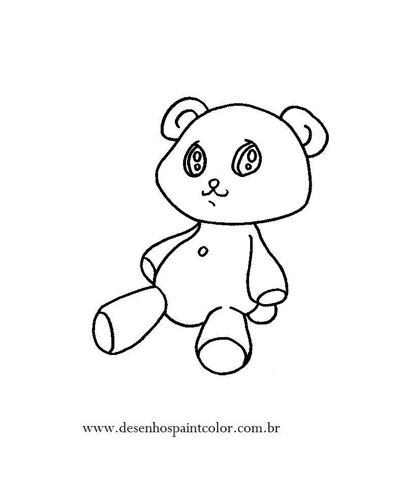 desenho de ursinho de pelÚcia para imprimir e colorri gratuitamente