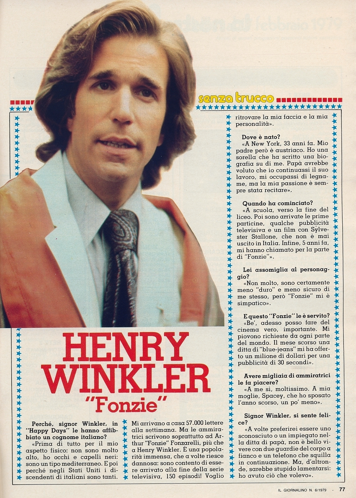 Corrierino e Giornalino: Henry Winkler