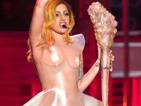 Lady Gaga Transparent Clothes at Picasa