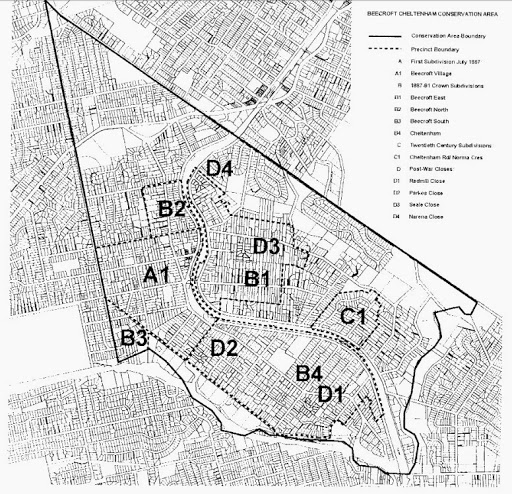 Beecroft-Cheltenham Conservation Area - click for larger map