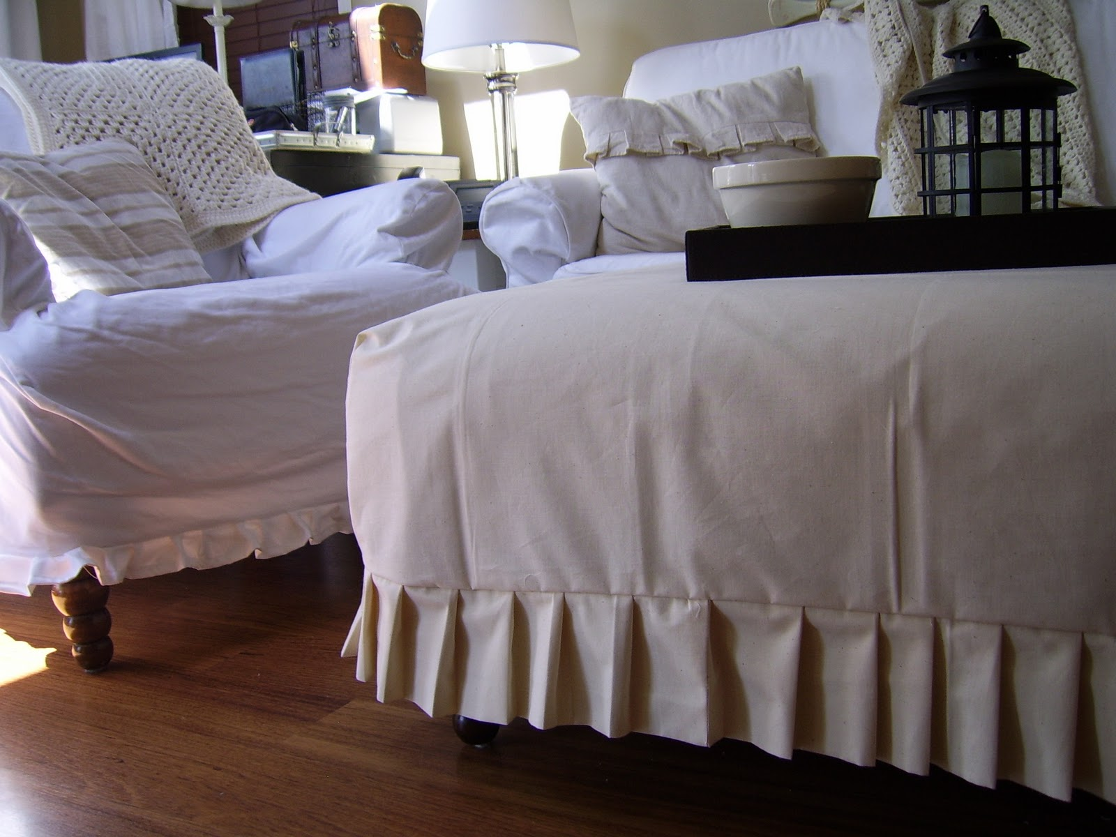 Rustic Maple Slipcovers in White