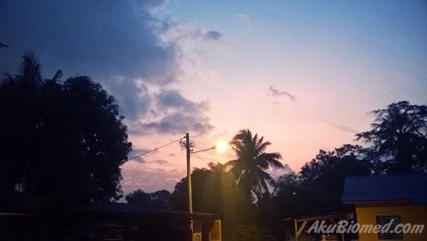 pemandangan pagi 1 syawal