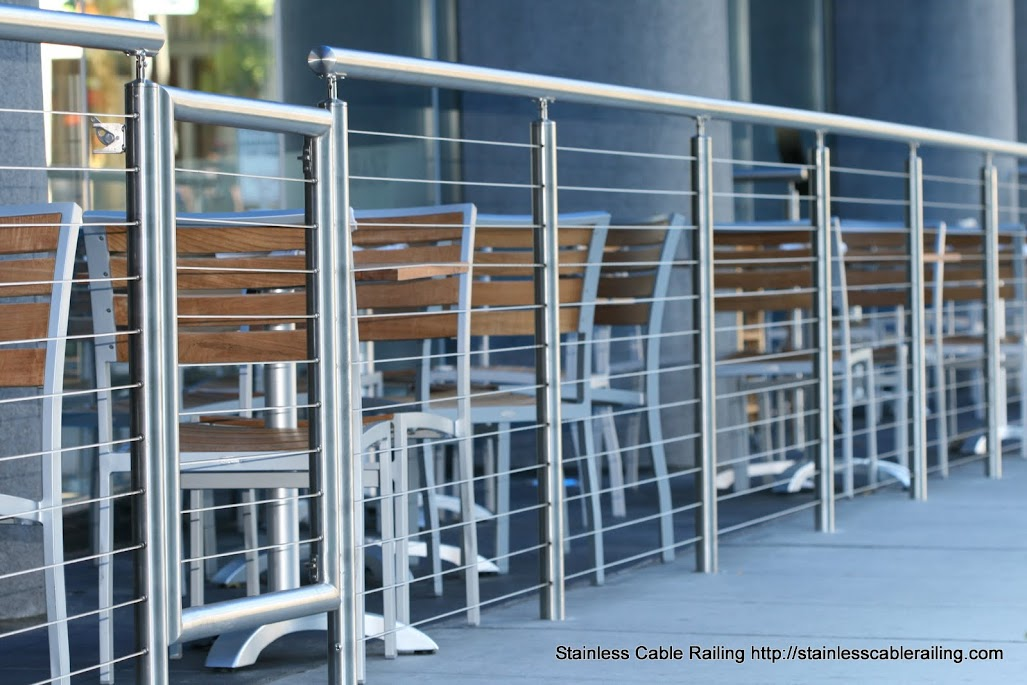 Cable railing system hyatt olive restaurant seattle wa