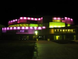 Led de colores en el Balneario de Panticosa
