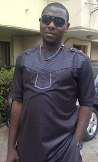 male igbo attire, brown
