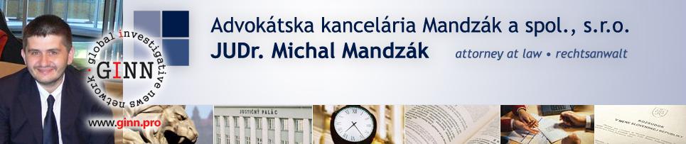 JUDr. Michal Mandzák, advokát