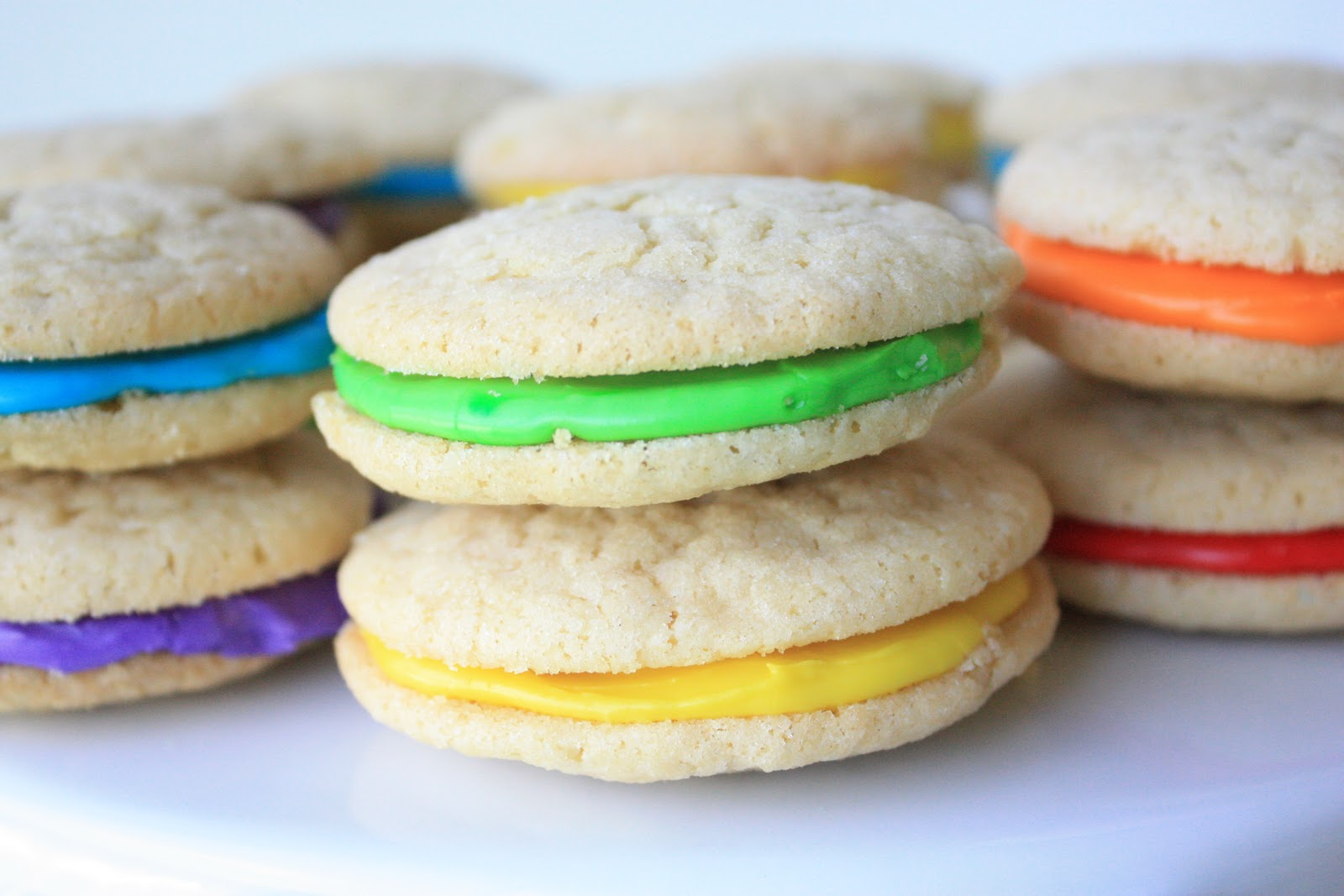 Munchkin Munchies: Double Vanilla Delights~Rainbow Cookies