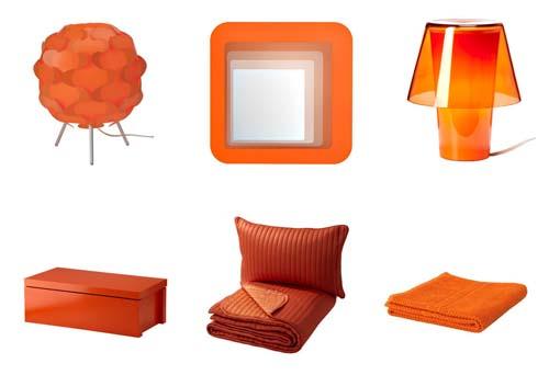 decoracion de verano en naranja