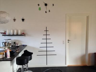 juletræ christmas tree masking tape