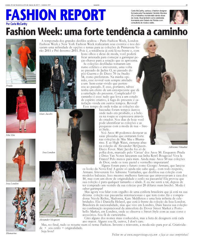 Heres My Writing For The Brazilian Newspaper Acheiusa You Can Check More About Me In Link