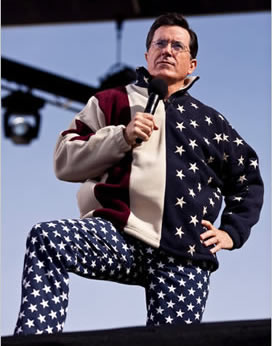 Stephen Colbert in USA Pants