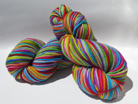 Renee's 12 Color Rainbow on Camelot Superwash Merino Aran - Trim Option & Penny Ship