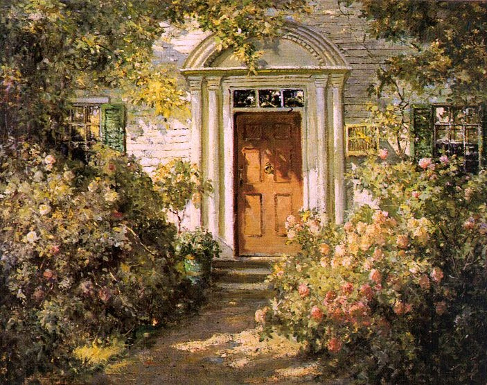 Abbott Fuller Graves - Grandmother's Doorway