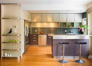 барная стойка в интерьере кухни-гостиной