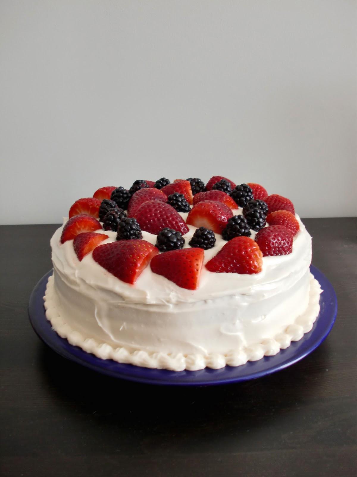 Sweet-E: Birthday Cakes: Chocolate, Berries, and Vegan Cream Cheese