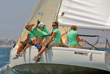 J/80 women sailors racing