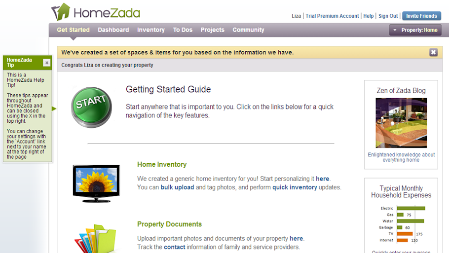 HomeZada Getting Started Guide Walks You Through The Documentation Process