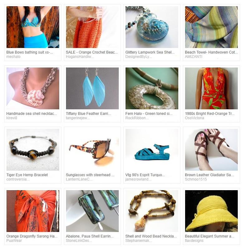 Orange and Turquoise by the Pool Treasury