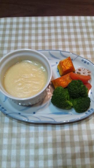 野菜のマッシュポテトソース添え