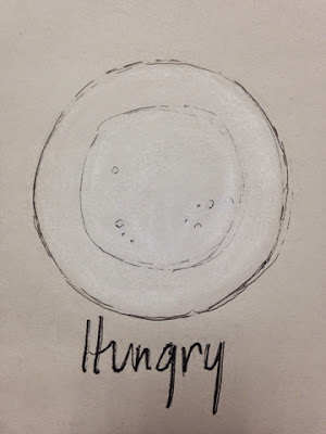 97 Hearts Hungry plate drawing