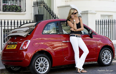 Fiat 500 and Elle Macpherson
