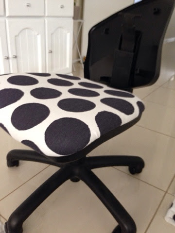 covering top - re-styled office chair