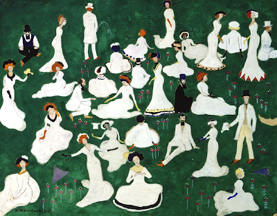 Kazimir Malevich - Rest. Society in Top Hats, 1908