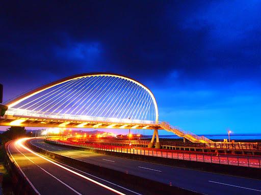 新竹香山豎琴橋
