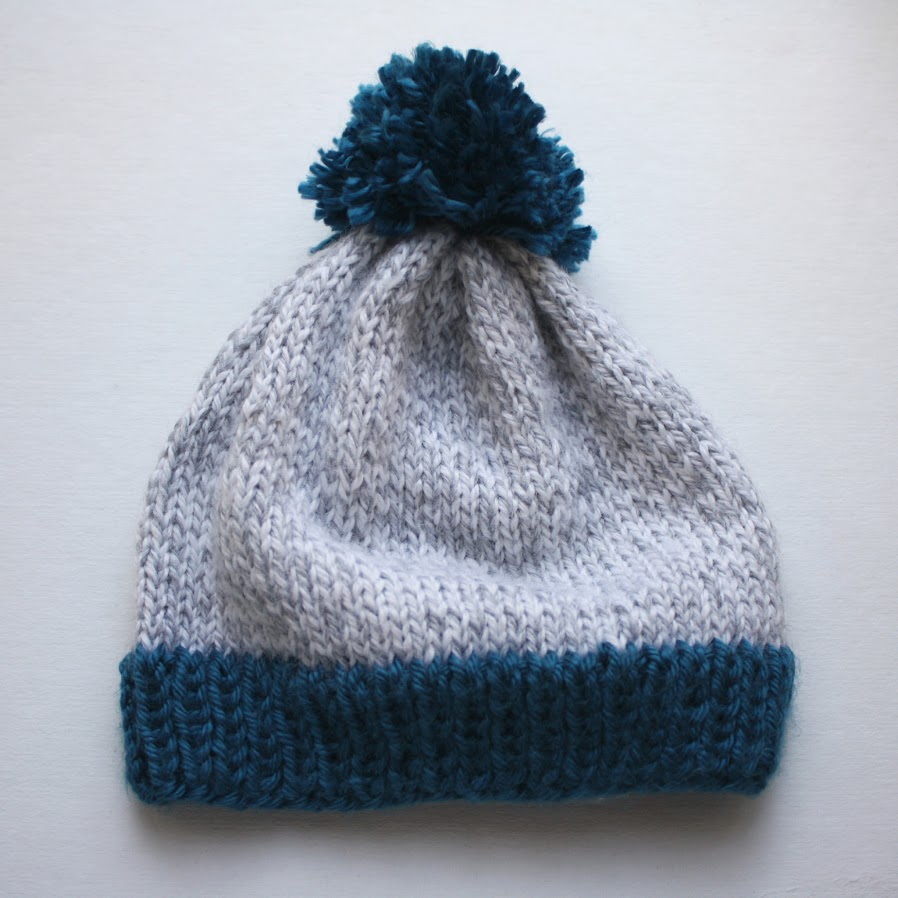 michael ann made.: big pom baby beanie - free knitting pattern!