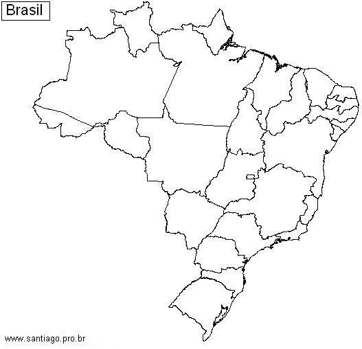 Mapa mudo do Brasil  Geografia e vida