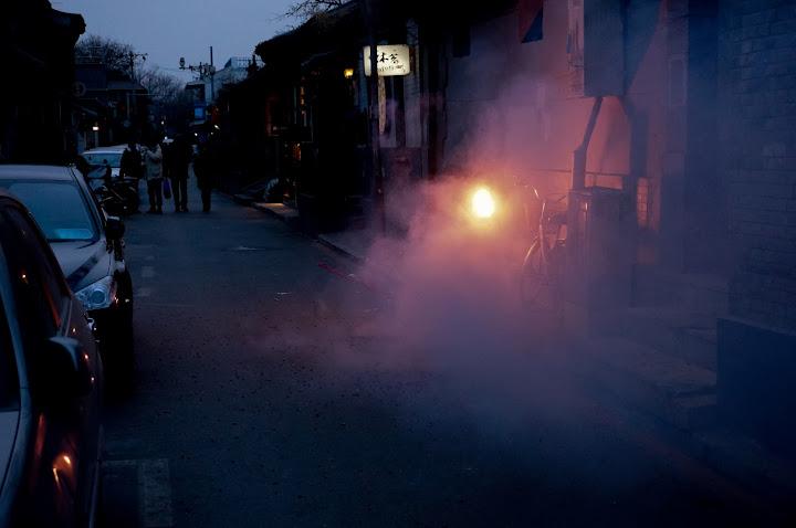 fuegos artificiales en el año nuevo chino