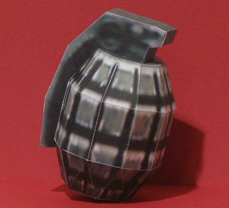 Frag Grenade Papercraft